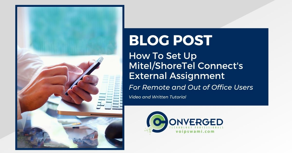 how to set up Mitel's connect external assignment
