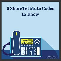 shoretel mute codes