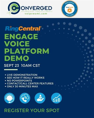 Events page vert demo Engage Voice
